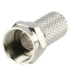 Valueline F-Connector 7.0 mm Male Metaal Zilver