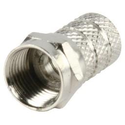 Valueline F-Connector 8.0 mm Male Metaal Zilver