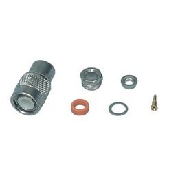 Valueline Connector TNC Male Metaal Zilver