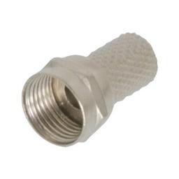 Valueline F-Connector 6.0 mm Male Metaal Zilver