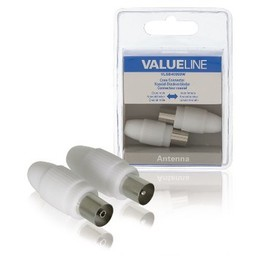 Valueline Coax Connector Male + Female Wit