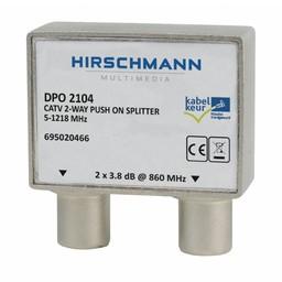 Hirschmann CATV Splitter 4.8 dB / 5-1218 MHz - 2 Uitgangen