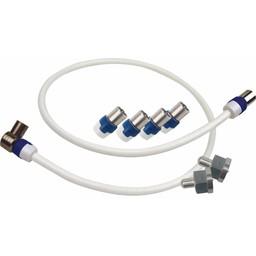 Hirschmann Coaxkabel Coax Male (IEC) - Coax Female (IEC) 0.5 m Wit