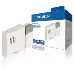 Valueline Draadloze Deurbel Set Batterijgevoed 70 dB Wit / Grijs