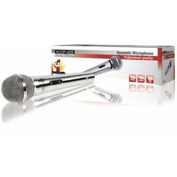 König Bedrade Microfoon 6.35 mm Zilver