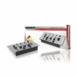 König DJ Mixer 3-Kanaals