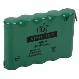 HQ Oplaadbare NiMH Batterij Pack 6.0 V 600 mAh 1-Pack