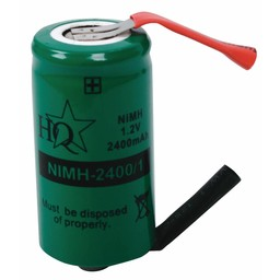 HQ Oplaadbare NiMH Batterij Pack 1.2 V 2400 mAh 1-Pack