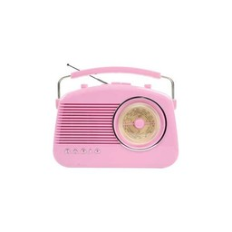 König Draagbare FM-Radio FM / AM Roze