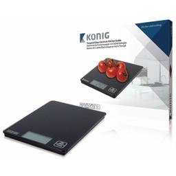 König Keukenweegschalen Zwart LCD