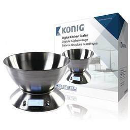 König Keukenweegschalen Zilver LCD