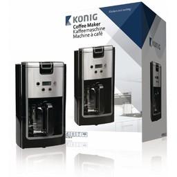 König Koffiezetapparaat 900 W 12 Kopjes Zwart / Zilver