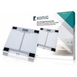 König Digitale Personenweegschaal 180 kg Transparant