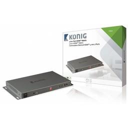 König HDMI Matrix 4x HDMI-Ingang - 2x HDMI-Uitgang Donkergrijs