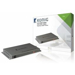 König HDMI Splitter HDMI-Ingang - 8x HDMI-Uitgang Donkergrijs