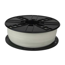 PLA plastic filament for 3D printers, 1.75 mm diameter, 0.6 kg, white color
