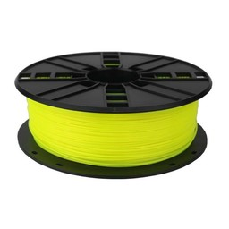 PLA plastic filament for 3D printers, 1.75 mm diameter, 0.6 kg, yellow color