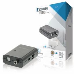 König Digitale Audio Converter 1x S/PDIF - TosLink Female Donkergrijs