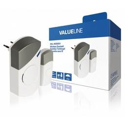 Valueline Plug-in Draadloze Deurbel Set 220V 70 dB Wit / Grijs