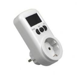 Huismerk KWH meter stekker digitaal  230V 16A