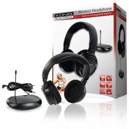 König Hoofdtelefoon Over-Ear Radiofrequentie Zwart