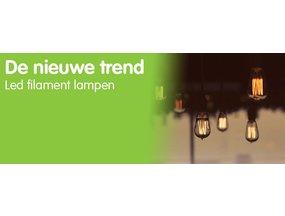 De nieuwe trend: led filament lampen