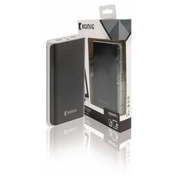 König Draagbare Powerbank 15000 mAh USB Zwart