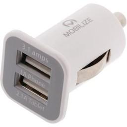 Mobilize Autolader 2-Uitgangen 3.1 A 2x USB
