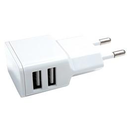 Grab n Go Grab 'n Go 2.4 Amp Dual USB Wall Charger White