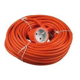 Besli Verlengkabel 20 meter 2x1mm H05VV oranje