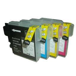 Huismerk Set cartridges voor Brother LC 980 985 1100