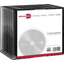 Primeon Primeon CD-R80 700MB 10 stuks Slimcase 52x