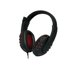 LogiLink LogiLink Stereo Headset met Microphone zwart/rood
