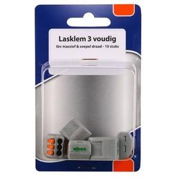 Huismerk Shop lasklem 3V klik  - 10 st in blister
