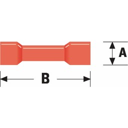 Valueline Connector kabelschoen 4.0 mm Female PVC Rood
