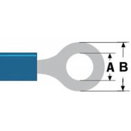 Valueline Connector kabelschoen 5.3 mm Female PVC Blauw