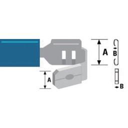 Valueline Connector kabelschoen 6.3 mm Male + Female PVC Blauw
