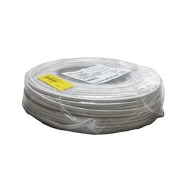 Huismerk 2 x 0.75mm² afgeplat snoer wit
