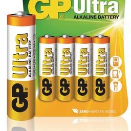 gp Alkaline Batterij AA 1.5 V Ultra 4-Blister