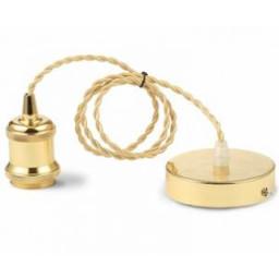 Snoerpendel goudkleurg snoer goud kleurige lamphouder E27
