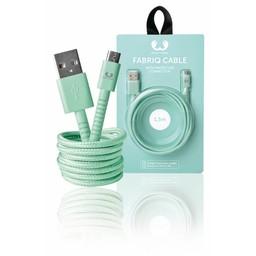 Fresh 'n Rebel USB 2.0 Kabel A Male - Micro-B Male Fabriq 1.50 m Peppermint
