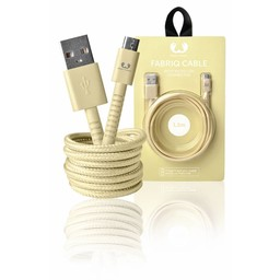 Fresh 'n Rebel USB 2.0 Kabel A Male - Micro-B Male Fabriq 1.50 m Buttercup
