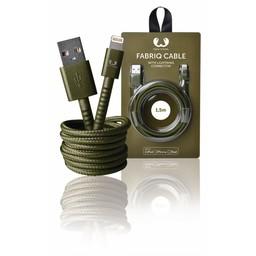 Fresh 'n Rebel Data en Oplaadkabel Apple Lightning - USB A Male 1.50 m Army