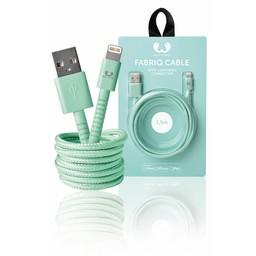 Fresh 'n Rebel Data en Oplaadkabel Apple Lightning - USB A Male 1.50 m Peppermint