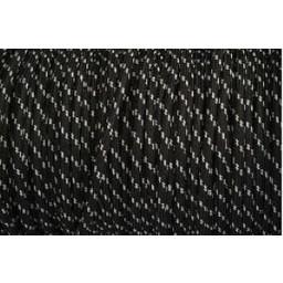 Omsponnen snoer 2x0,75 qmm wit/zwart
