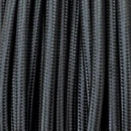 Omsponnen snoer 2x0,75 qmm zwart