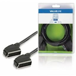 Valueline SCART Kabel SCART Male - SCART Male 2.00 m Zwart