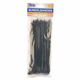 Huismerk Bundelbandje 2,5 x 200mm 100st  zwart