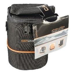 Camlink Camera Lens Beschermtas 105 x 130 x 100 mm Zwart / Oranje