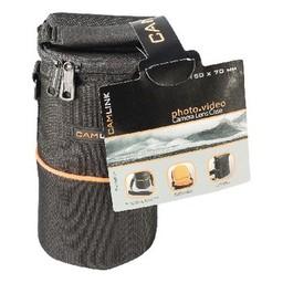 Camlink Camera Lens Beschermtas 90 x 150 x 70 mm Zwart / Oranje